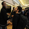 "Alec Burks, left, is congratulated by players and CU basketball staff after his announcement.<br /> University of Colorado basketball player, Alec Burks, announced that he will  leave CU and enter the NBA draft. For more photos and videos of Burks, go to  <a href=""http://www.dailycamera.com"">http://www.dailycamera.com</a>.<br /> Cliff Grassmick/ April 21, 2011"