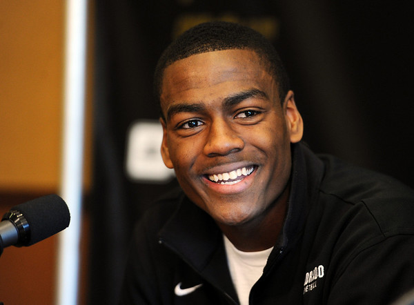 """University of Colorado basketball player, Alec Burks, announced that he will  leave CU and enter the NBA draft. For more photos and videos of Burks, go to  <a href=""""http://www.dailycamera.com"""">http://www.dailycamera.com</a>.<br /> Cliff Grassmick/ April 21, 2011"""
