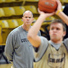 "Colorado head basketball coach, Tad Boyle, watches Trey Eckloff during preparation for the first game of the NIT. The Buffs play Texas Southern on Wednesday night.<br /> For more photos and a video interview, go to  <a href=""http://www.dailycamera.com"">http://www.dailycamera.com</a>.<br /> Cliff Grassmick / March 15, 2011"