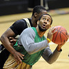 "Carlon Brown during NIT practice.<br /> For more photos and a video interview, go to  <a href=""http://www.dailycamera.com"">http://www.dailycamera.com</a>.<br /> Cliff Grassmick / March 15, 2011"