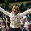 Baylor head coach Kim Mulkey yells out defensive instructions to her team during the second half of a college NCAA basketball game against Colorado at the Big 12 Women's basketball tournament Thursday, March 11, 2010, in Kansas City, Mo. Baylor won 72-65. (AP Photo/Ed Zurga)