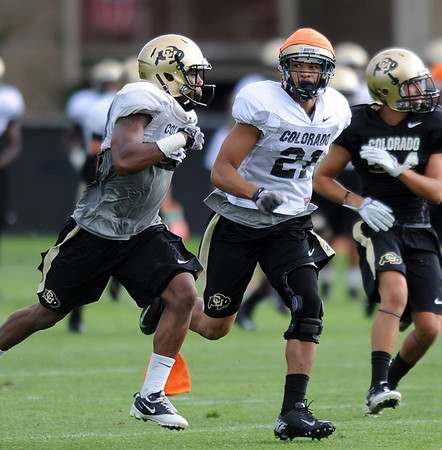 "Jered Bell at CU practice on Saturday.<br /> For more photos and videos of media day,  go to  <a href=""http://www.dailycamera.com"">http://www.dailycamera.com</a>.<br /> Cliff Grassmick / August 11, 2012"