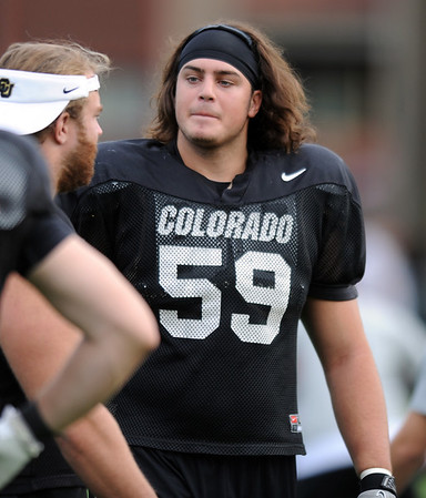 "David Bakhtiari at CU practice on Saturday.<br /> For more photos and videos of media day,  go to  <a href=""http://www.dailycamera.com"">http://www.dailycamera.com</a>.<br /> Cliff Grassmick / August 11, 2012"