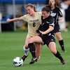"Hayley Hughes, left, of CU, and Katie Egan of LIU-Brooklyn battle for the ball.<br /> For more photos of the game, go to  <a href=""http://www.dailycamera.com"">http://www.dailycamera.com</a>.<br /> Cliff Grassmick  / August 24, 2012"