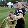 "Hayley Hughes (6) of CU, and Toni Smith of LIU-Brooklyn battle for control.<br /> For more photos of the game, go to  <a href=""http://www.dailycamera.com"">http://www.dailycamera.com</a>.<br /> Cliff Grassmick  / August 24, 2012"