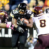 "Josh Ford of CU gets yards against ASU.<br /> For more photos of the game, go to  <a href=""http://www.dailycamera.com"">http://www.dailycamera.com</a><br /> Cliff Grassmick / October 11, 2012"