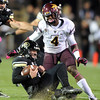 "CU QB, Jordan Webb slides in front of Alden Darby of ASU.<br /> For more photos of the game, go to  <a href=""http://www.dailycamera.com"">http://www.dailycamera.com</a><br /> Cliff Grassmick / October 11, 2012"