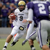 Colorado quarterback Tyler Hansen (9) tries to escape a group of Kansas State defenders during the first quarter of an NCAA college football game Saturday, Oct. 24, 2009 in Manhattan, Kan. (AP Photo/Charlie Riedel)