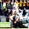 Tyler Hansen  of Colorado is sacked for a safety by Missouri in the 36-17 loss.<br /> Cliff Grassmick / October 31, 2009