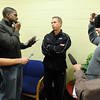 CU basketball coach Jeff Bzdelik talks to the press during CU media day on Friday.<br /> Cliff Grassmick / October 16, 2009