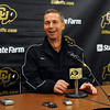 Colorado basketball coach Jeff Bzdelik has a laugh before  the media day press conference on Friday.<br /> Cliff Grassmick / October 16, 2009