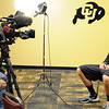 "Trey Eckloff is interviewed by Channel 9 in Denver during media day.<br /> For videos and photos of media day, go to  <a href=""http://www.dailycamera.com"">http://www.dailycamera.com</a><br /> Cliff Grassmick / October 26, 2011"