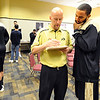"Carlon Brown, right, talks to CU  basketball SID, Andrew Green, during to CU Media Day.<br /> For videos and photos of media day, go to  <a href=""http://www.dailycamera.com"">http://www.dailycamera.com</a><br /> Cliff Grassmick / October 26, 2011"