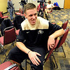 "Shane Harris-Tunks waits for his turn at the camera during CU  media day.<br /> For videos and photos of media day, go to  <a href=""http://www.dailycamera.com"">http://www.dailycamera.com</a><br /> Cliff Grassmick / October 26, 2011"