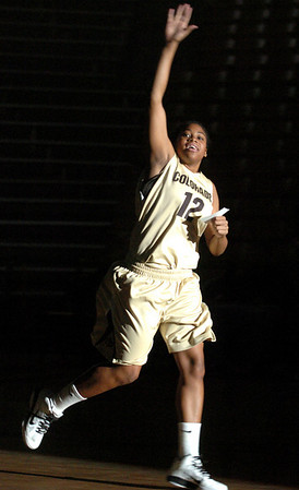 "Ashley Wilson and all the players were introduced under the spotlight.<br /> The University of Colorado basketball programs  held the CU Basketball Tip-Off  Festival on Sunday. For more photos, go to  <a href=""http://www.dailycamera.com"">http://www.dailycamera.com</a>.<br /> Cliff Grassmick / November 7, 2010"