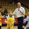 "CU men's Coach, Tad Boyle, has fun with ""volunteer"" players during the activities.<br /> The University of Colorado basketball programs  held the CU Basketball Tip-Off  Festival on Sunday. For more photos, go to  <a href=""http://www.dailycamera.com"">http://www.dailycamera.com</a>.<br /> Cliff Grassmick / November 7, 2010"