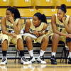 "Brittany Wilson, left, sister Ashley, and Shae Kelley, watch their coach explain a play to the crowd.<br /> The University of Colorado basketball programs  held the CU Basketball Tip-Off  Festival on Sunday. For more photos, go to  <a href=""http://www.dailycamera.com"">http://www.dailycamera.com</a>.<br /> Cliff Grassmick / November 7, 2010"
