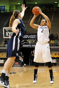 Bianca Smith of Colorado puts up a three against Yale on Monday. For more photos of the game, go to www.dailycamera.com. Cliff Grassmick / January 4, 2010