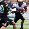 Colorado's Rodney Stewart gains yards during the second quarter of an NCAA college football game against Hawaii, Saturday, Sept. 3, 2011, in Honolulu.  (AP Photo/Marco Garcia)
