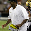 Colorado head coach Jon Embree reacts after Colorado allowed a fourth down conversion during the fourth quarter of the NCAA college football game against Hawaii, Saturday, Sept. 3, 2011, in Honolulu.  Hawaii defeated Colorado 34-17.  (AP Photo/Marco Garcia
