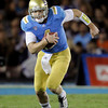UCLA quarterback Kevin Prince carries the ball during the first half of an NCAA college football game against Colorado at the Rose Bowl in Pasadena, Calif., Saturday, Nov. 19, 2011. (AP Photo/Jae Hong)