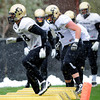 """Andre Nichols (58) runs an agility drill during the University of Colorado football team practice on the CU Boulder Campus on  Tuesday April 3, 2012.<br /> For more photos of the practice go to  <a href=""""http://www.buffzone.com"""">http://www.buffzone.com</a><br /> Photo by Paul Aiken / The Camera"""