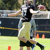 "Tyler McCulloch, 87, can't pull in a pass during the University of Colorado Buffalos  Monday August 15 practice. FOR MORE PHOTOS AND VIDEO INTERVIEWS FROM THE PRACTICE GO TO  <a href=""http://WWW.BUFFZONE.COM"">http://WWW.BUFFZONE.COM</a> OR  <a href=""http://WWW.DAILYCAMERA.COM"">http://WWW.DAILYCAMERA.COM</a><br /> Photo by Paul Aiken / The Camera / 8/ 15/ 11"