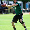 "Quarterback John Schrock, 14, works in a passing drill during the University of Colorado football team practice in Boulder  on Thursday August 11, 2011.<br /> For more photos and video interviews from the practice go to  <a href=""http://www.dailycamera.com"">http://www.dailycamera.com</a><br /> Photo by Paul Aiken  August 11, 2011."