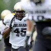 "University of Colorado's Lowell Williams, No. 45, sprints during a drill at fall football camp on Monday, Aug. 13, at the CU Practice Fields in Boulder. For more photos of the practice go to  <a href=""http://www.dailycamera.com"">http://www.dailycamera.com</a><br /> Jeremy Papasso/ Camera"