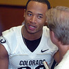 Jalil Brown at CU media day.<br /> Cliff Grassmick / August 7, 2010