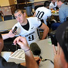 QB Tyler Hansen talks to the press during media day.<br /> Cliff Grassmick / August 7, 2010