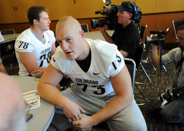 Ryan Miller at CU media day on Saturday.<br /> Cliff Grassmick / August 7, 2010