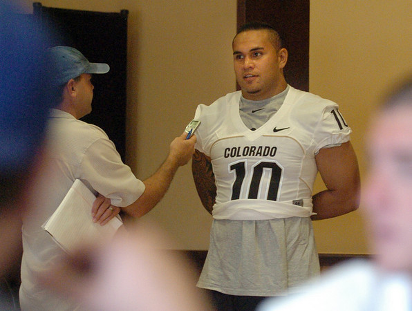 Michael Sipili at CU media day.<br /> Cliff Grassmick / August 7, 2010