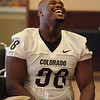 Eugene Goree during CU media day.<br /> Cliff Grassmick / August 7, 2010
