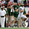 "Colorado State's Crockett Gillmore gains big yardage during a football game against the University of Colorado on Saturday, Sept. 17, at Sports Authority Field in Denver. CU defeated CSU 28-14. For more photos of the game go to  <a href=""http://www.dailycamera.com"">http://www.dailycamera.com</a><br /> Jeremy Papasso/ Camera"