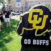 "CU tailgaters took advantage of the warm weather for the first game of the season at Folsom Field.<br /> For more photos of the CU game, go to  <a href=""http://www.dailycamera.com"">http://www.dailycamera.com</a>.<br />  Cliff Grassmick / September 10, 2011"