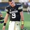 "An upset Tyler Hansen of CU leaves Folsom Field after the Buffs overtime loss to California.<br /> For more photos of the CU game, go to  <a href=""http://www.dailycamera.com"">http://www.dailycamera.com</a>.<br /> Cliff Grassmick / September 10, 2011"