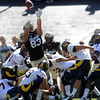 "Will Pericak (83) blocked an extra point against Cal.<br /> For more photos of the CU game, go to  <a href=""http://www.dailycamera.com"">http://www.dailycamera.com</a>.<br /> Cliff Grassmick / September 10, 2011"