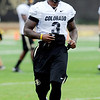 """Doug Rippy works during  CU football practice on August 16, 2012.<br /> For more photos and videos of practice,  go to  <a href=""""http://www.dailycamera.com"""">http://www.dailycamera.com</a>.<br /> Cliff Grassmick / August 16, 2012"""