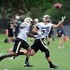 "Josh Moten, left, and Richard Yates work on DB drills on Thursday.<br /> For more photos and videos of practice,  go to  <a href=""http://www.dailycamera.com"">http://www.dailycamera.com</a>.<br /> Cliff Grassmick / August 16, 2012"
