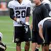 """Greg Henderson works during  CU football practice on August 16, 2012.<br /> For more photos and videos of practice,  go to  <a href=""""http://www.dailycamera.com"""">http://www.dailycamera.com</a>.<br /> Cliff Grassmick / August 16, 2012"""
