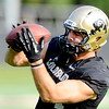 "TE Nick Kasa at practice on Aug. 17, 2012.<br /> For more photos and videos of practice,  go to  <a href=""http://www.dailycamera.com"">http://www.dailycamera.com</a>.<br /> Cliff Grassmick / August 17, 2012"