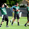 "CU QB's, Jordan Webb, left, Connor Wood, and Stevie Joe Dorman at practice on Aug. 17, 2012.<br /> For more photos and videos of practice,  go to  <a href=""http://www.dailycamera.com"">http://www.dailycamera.com</a>.<br /> Cliff Grassmick / August 17, 2012"