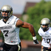 "University of Colorado's Ray Polk, No. 7, shows his speed during the second football practice of the fall camp on Tuesday, Aug. 7, at the CU practice field in Boulder. For more photos of the practice go to  <a href=""http://www.dailycamera.com"">http://www.dailycamera.com</a><br /> Jeremy Papasso/ Camera"
