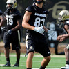 "University of Colorado's Dustin Ebner warms up during the second football practice of the fall camp on Tuesday, Aug. 7, at the CU practice field in Boulder. For more photos of the practice go to  <a href=""http://www.dailycamera.com"">http://www.dailycamera.com</a><br /> Jeremy Papasso/ Camera"