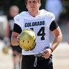Nick Kasa at CU practice on August 12, 2009 (Photo by Cliff Grassmick).