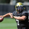 CU QB Cody Hawkins in practice (Photo by Cliff Grassmick).