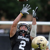 "Logan Gray catches a pass during practice on August 26, 2011.<br /> For more photos of CU football, go to  <a href=""http://www.dailycamera.com"">http://www.dailycamera.com</a>.<br /> Cliff Grassmick / August 26, 2011"