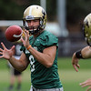 "Nick Hirschman catches a pitch out during practice on Friday.<br /> For more photos of CU football, go to  <a href=""http://www.dailycamera.com"">http://www.dailycamera.com</a>.<br /> Cliff Grassmick / August 26, 2011"
