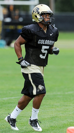 """Rodney Stewart heads out to practice on August 26, 2011.<br /> For more photos of CU football, go to  <a href=""""http://www.dailycamera.com"""">http://www.dailycamera.com</a>.<br /> Cliff Grassmick / August 26, 2011"""